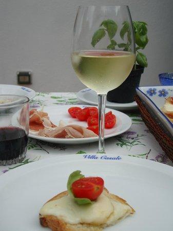 Villa Casale : Lunch on the terrace