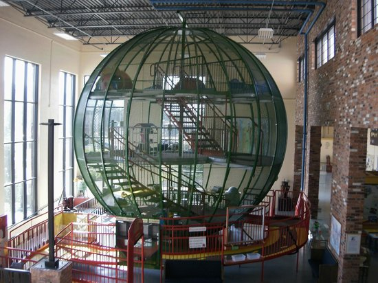 Museum of Clean: Giant green sphere for kids to walk through