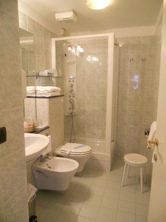 Hotel Suisse: Banheiro moderno e super limpo