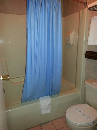 Surfside On The Lake Hotel & Suites : The bathroom, a little small