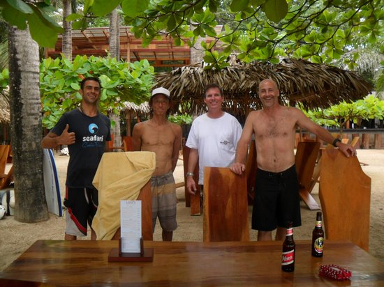 Seafari Costa Rica: The crew enjoying the view after surfing.