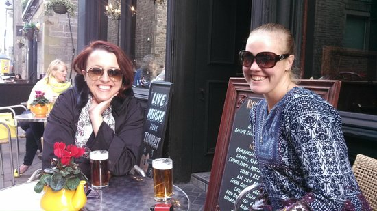 Rose and Crown: With Anna, an australian and lovely friend!