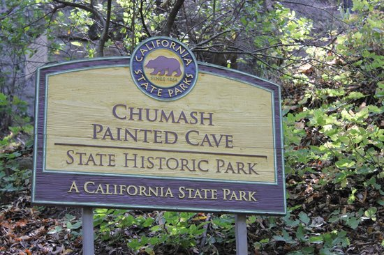 Chumash Painted Cave State Historic Park: Sign