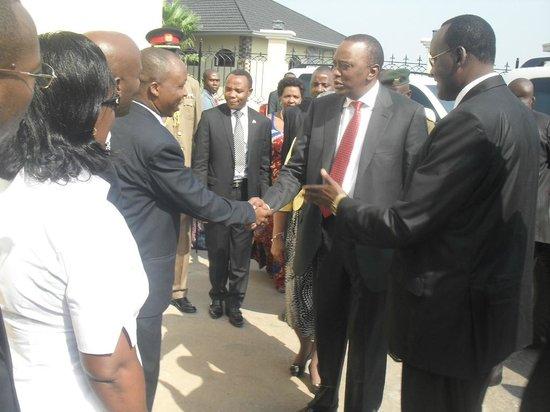Hotel Belair Residence : President of Republic of Kenya, H.E. Uhuru Kenyatta during a visit on 1st July 2013
