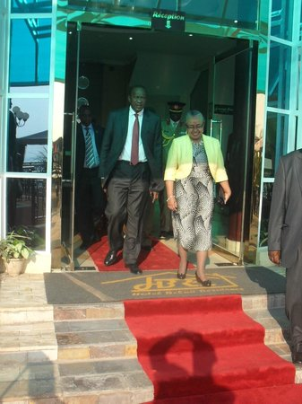 Hotel Belair Residence : The President of Kenya H.E. Uhuru Kenyatta & 1st lady Mrs. Margaret Kenyatta on 1st July 2013