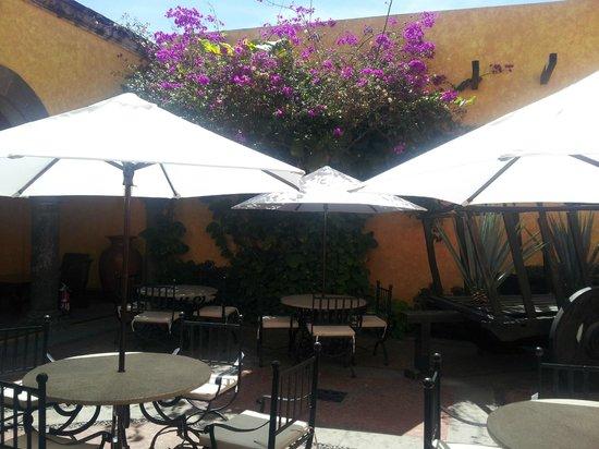 La Rojena: Jardim interno