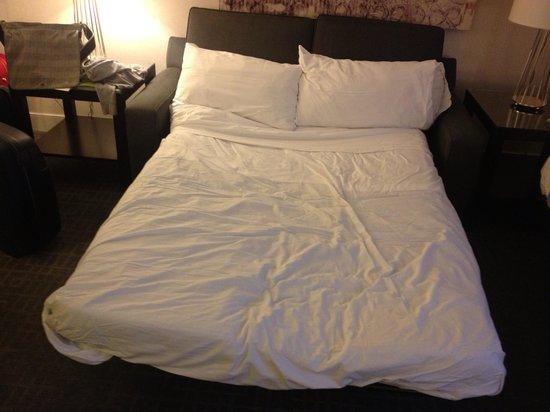 Washington Court Hotel on Capitol Hill: divano letto in cui hanno dormito 2 ragazze di 1, 80 mt!