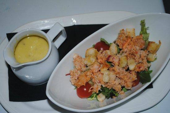 Sasso: insalata di lagosta e grangio