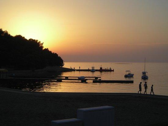 Hotel Laguna Parentium: Beach area