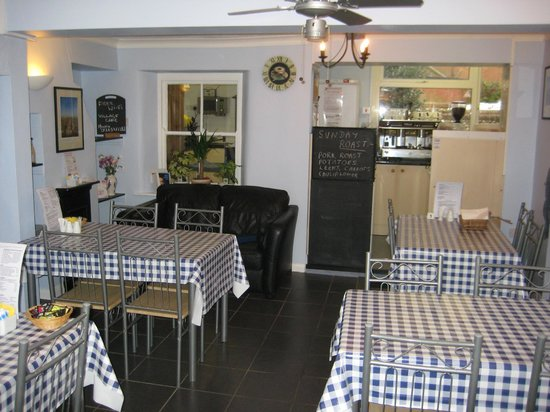 The Village Cafe: The ground floor dining area