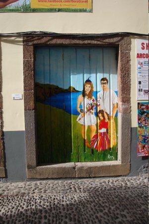 painted door in nearby street