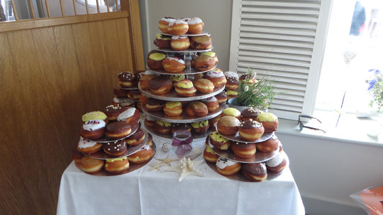 Donut wedding cake picture of the beach house st brelade the beach house donut wedding cake junglespirit Gallery