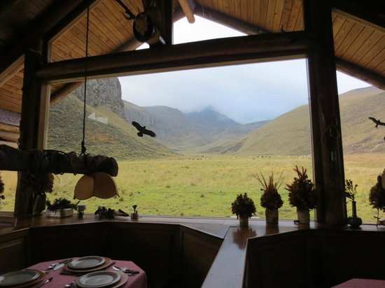Estrella del Chimborazo: The view from the dining room up the valley