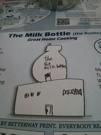 Milk Bottle Restaurant: the milk bottle