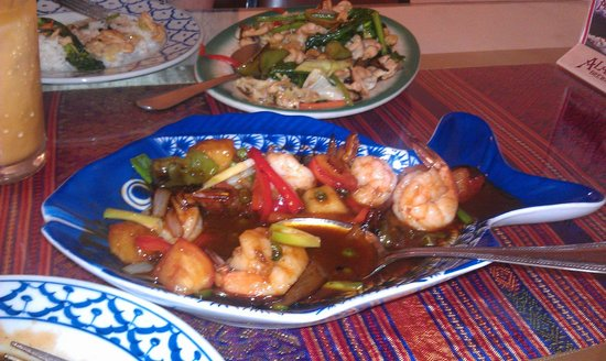 Thai House Restaurant: Wish it were closer, I'd love to order this Sweet and Sour Shrimp again!
