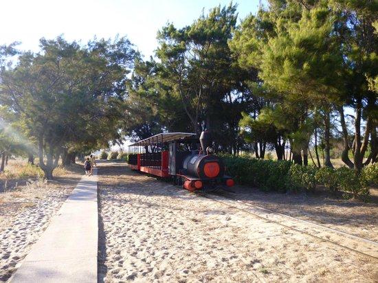 Praia do Barril: trem para se chegar à praia