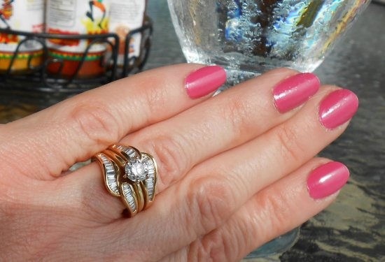 Imperial Jewelers: a close-up of my pretty ring