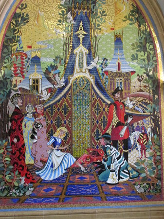 Mosaic wall mural in cinderella 39 s castle picture of for Cinderella wall mural