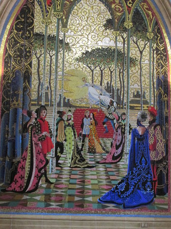 Mosaic wall mural in cinderella 39 s castle picture of for Cinderella castle wall mural