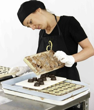 Devonport Chocolates: Tammy making chocolates