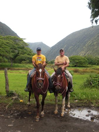 Waipi'o On Horseback: Enjoying a pleasant ride with a friend