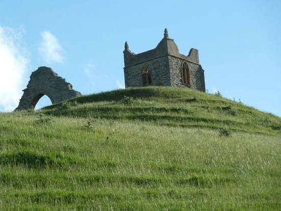 Church on top of Burrow Mump