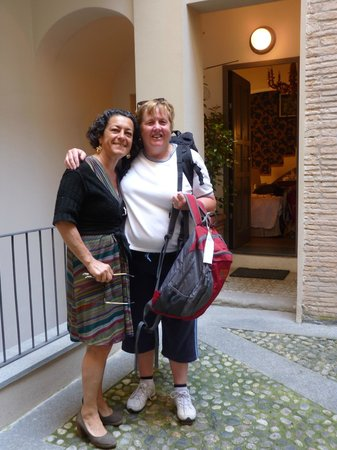 B&B Al Battistero d'Oro : Saying goodbye to our host