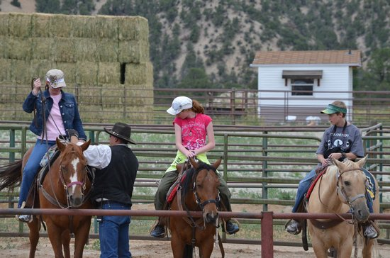 Mt Princeton Riding Stables & Equestrian Center : Getting ready for the ride out