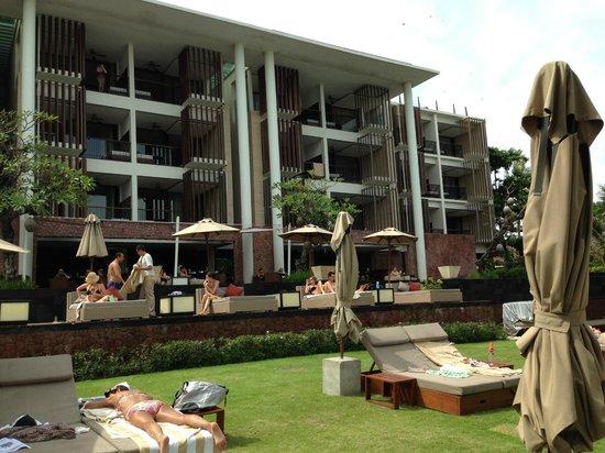 Anantara Seminyak Bali Resort: View from the beach