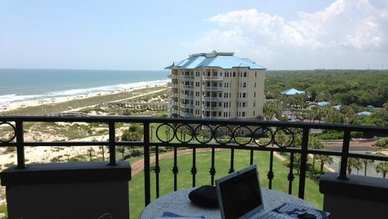 The Ritz-Carlton, Amelia Island: view from the balcony. didnt feel like i was working
