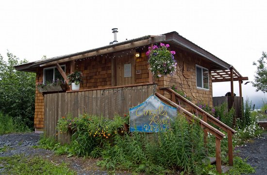 Angels Rest on Resurrection Bay, LLC: Wing Cabin - View from the street