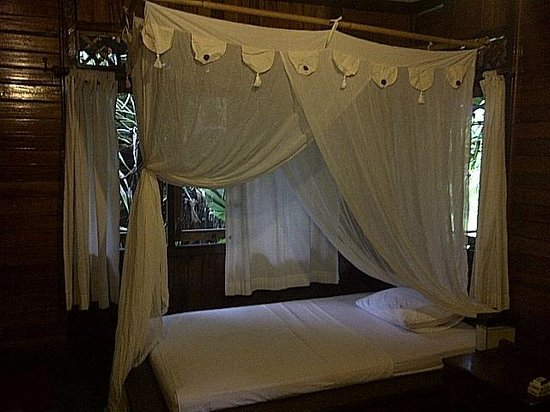 Living Colours Dive Resort: bed with a mosquito net