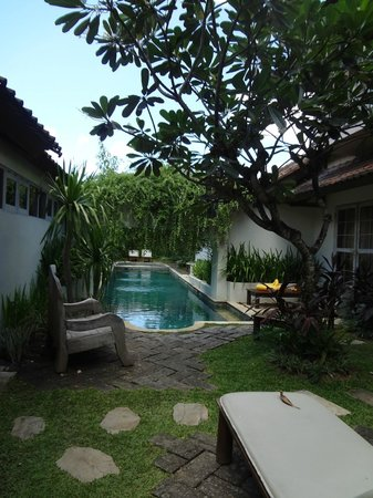 Villa Kresna Boutique Villas: private pool shared amongst 4 villas; good place to mingle with the other villa guests