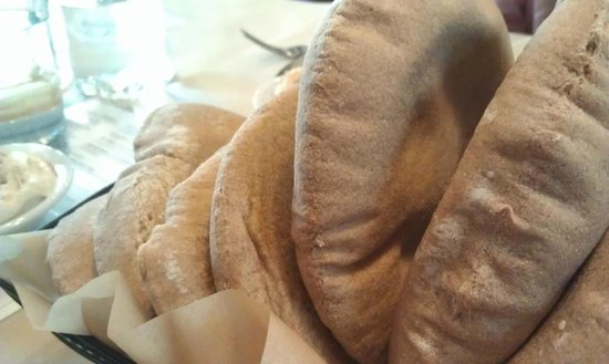 Oren's Hummus Shop: unlimited whole wheat pita bread