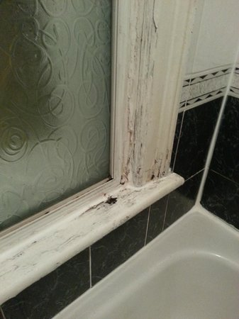 Kildare Street Hotel : rot and mold around bath tub