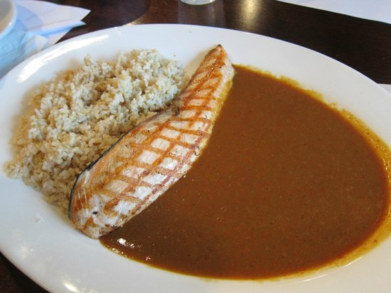Muracci's Japanese Curry and Grill: grilled salmon curry rice