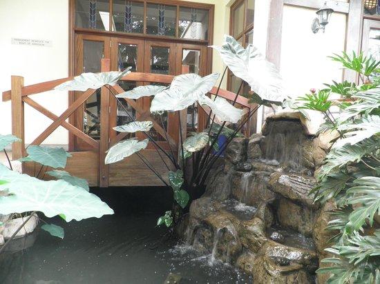 The Heron Portico: Waterfall
