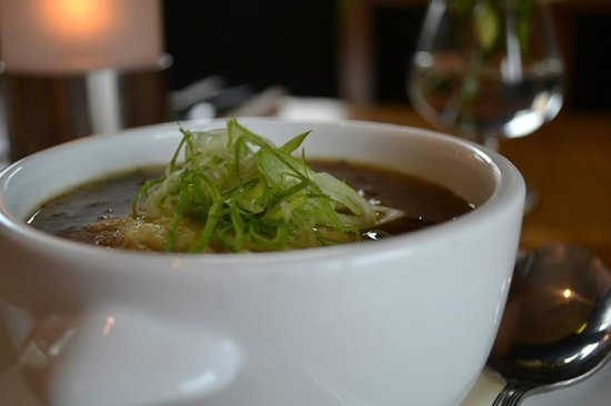 Mør Biffhus : Løk suppe