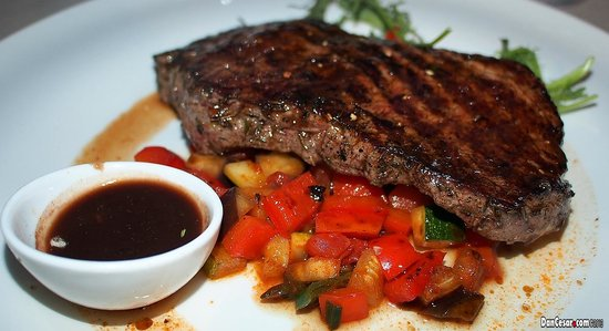 Agava: Sirloin Steak, Istrian wine, Teran Sauce, ratatouille