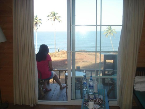 Ozran Heights Beach Resort: view from inside room