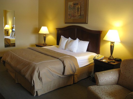 Comfortable king bed -- Vidalia Comfort Suites