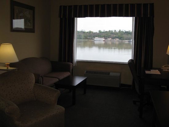Great view from Riverside king room -- Vidalia Comfort Suites