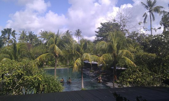 Hotel Santika Premiere Beach Resort Bali: the view from the dining room