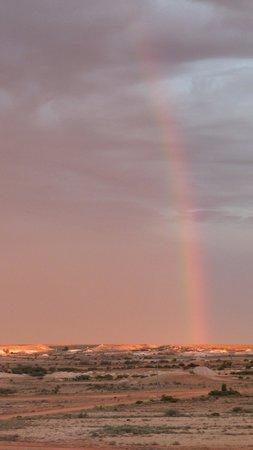 Down to Erth B &B: Rainbow at sunset