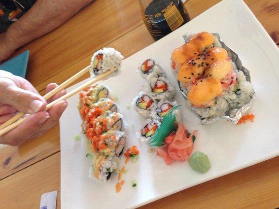 Sushi Jacko: Texas, California, fresh salmon rolls
