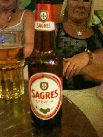 Albufeira Sol Suite Hotel & Spa: Sagres local beer