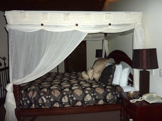 Escarpment Retreat: The canopy bed