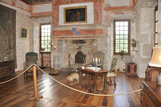 Château de Cénevières : Vue de la salle