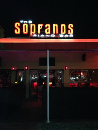 Sopranos Piano Bar : The front of the piano bar