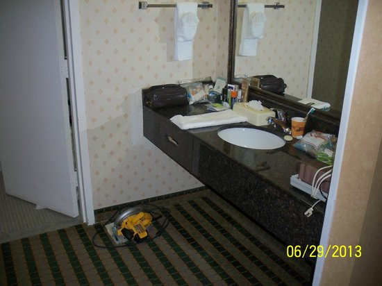 Clarion Hotel Palmer Inn: Sink Area